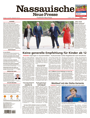 Nassauische Neue Presse vom Freitag, 11.06.2021